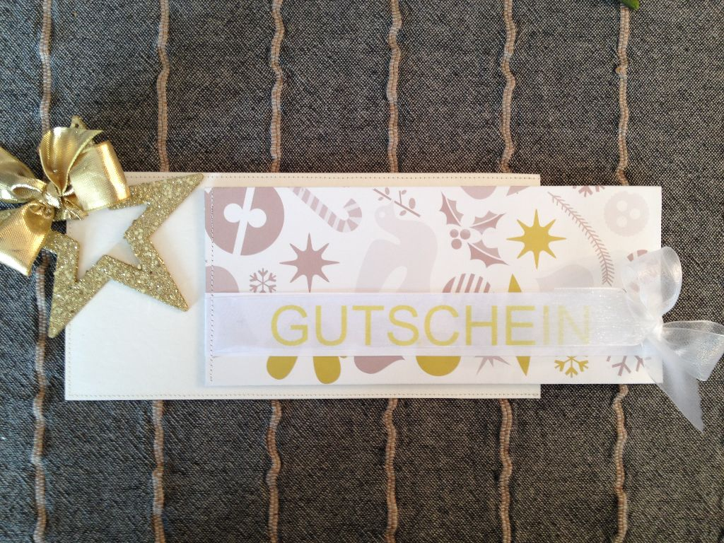 Ein Gutschein als Weihnachtsgeschenk